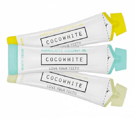 Cocowhite is available in three lavours (top to bottom) Light Lemon, Minty Fresh and Vanilla Swirl...