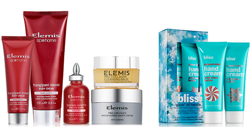 Elemis and Bliss gift sets are reduced at TimetoSpa...